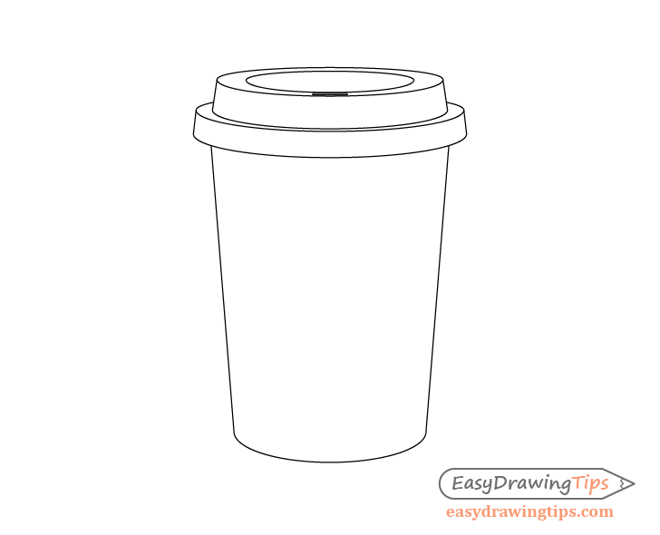 Coffee cup drinking hole drawing