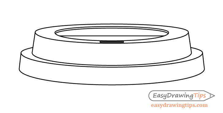 Coffee cup lid drawing