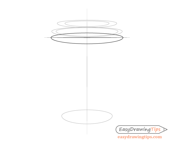 Coffee cup lid rim bottom drawing