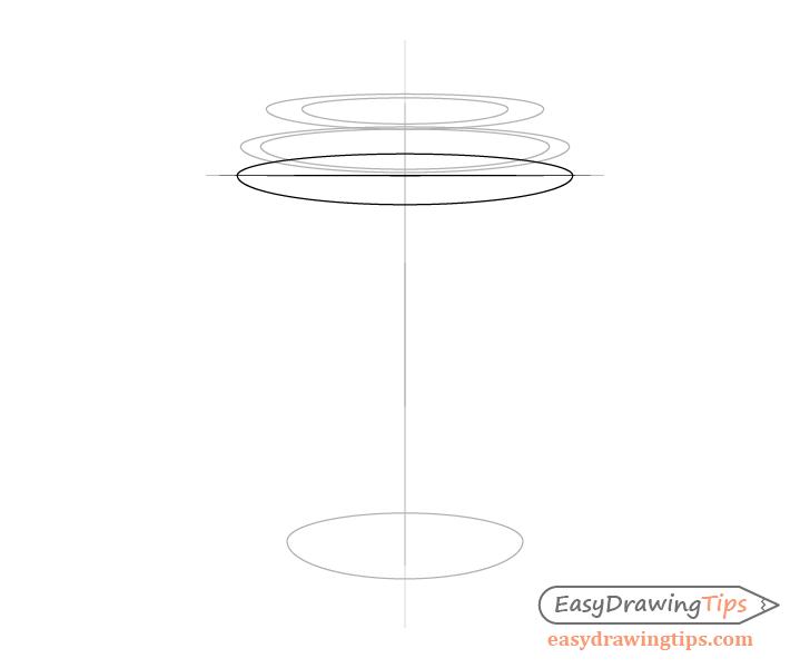 Coffee cup lid rim bottom drawing