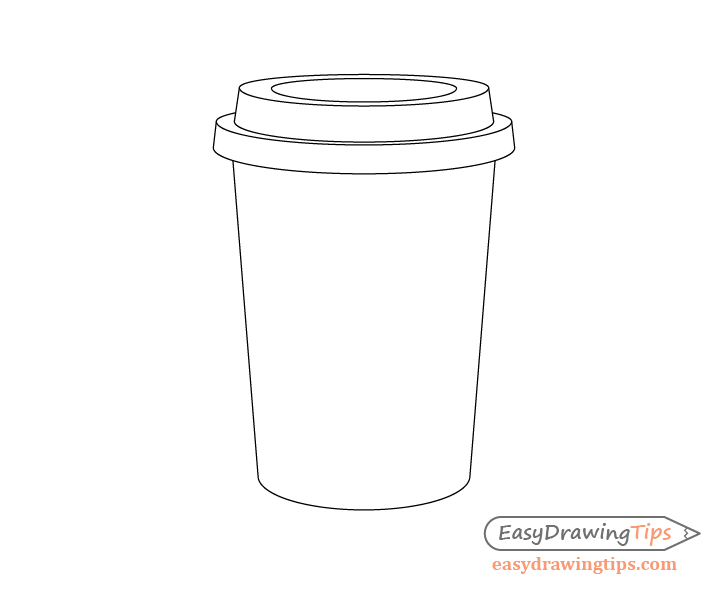 Coffee cup main shape drawing