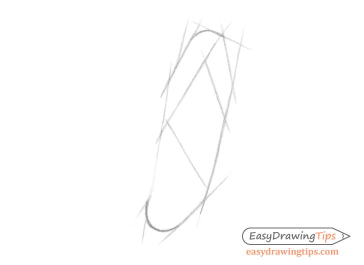 Ear front view construction drawing