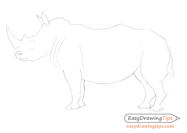 Rhinoceros outline drawing