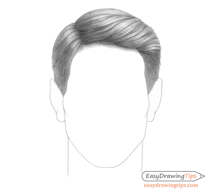 Combed male hair drawing