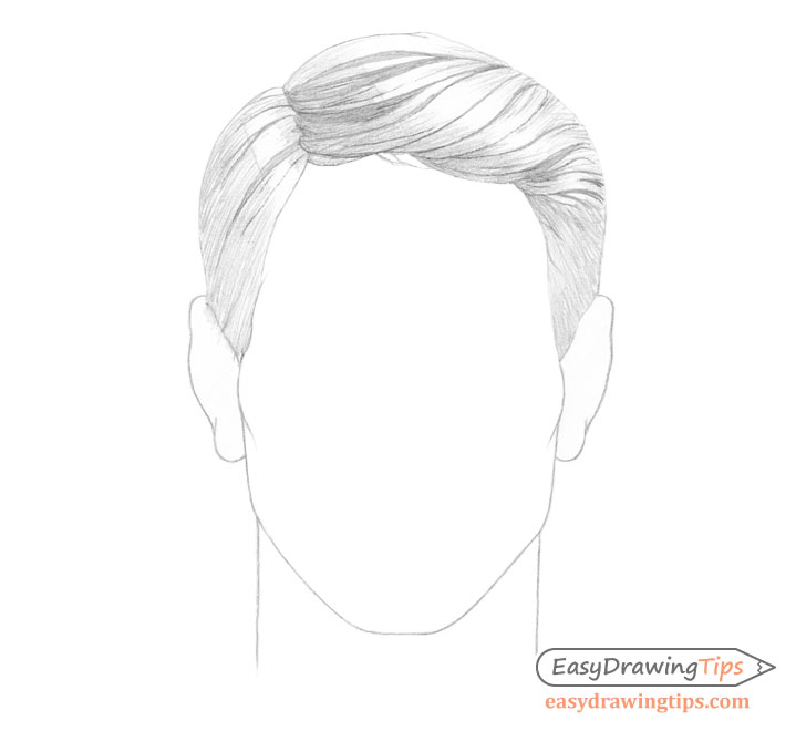 Male combed hair basic shading