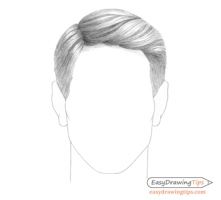 Male combed hair shading