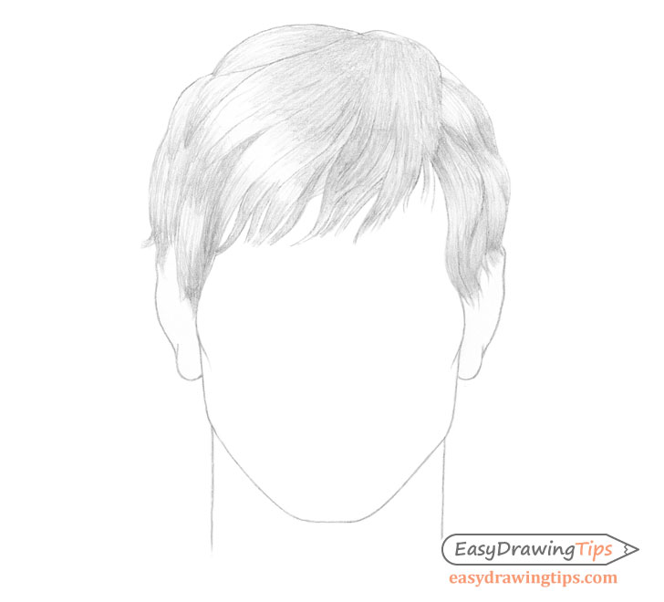 Male hair basic shading