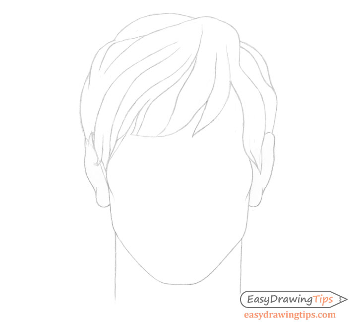 Male hair details drawing