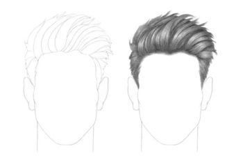 How to Draw Male Hair Step by Step