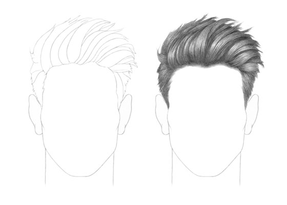 Male hair drawing tutorial
