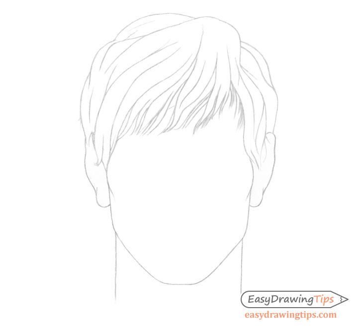Male hair line drawing