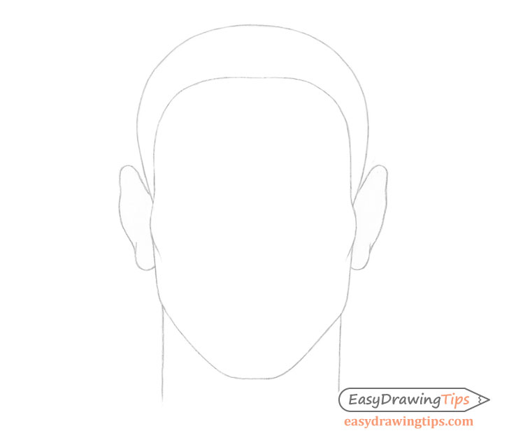 Male hairline drawing