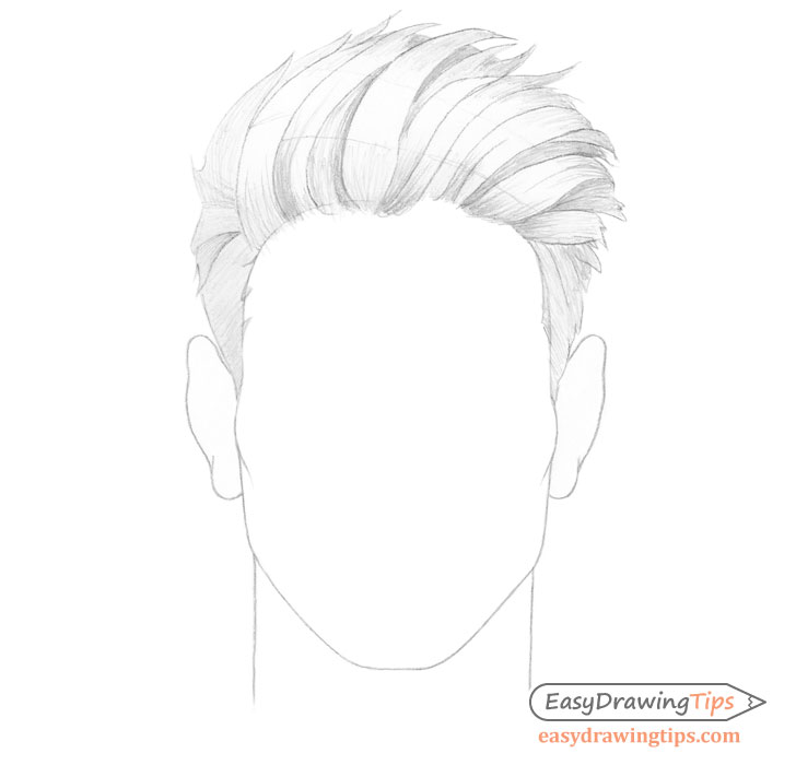 Spiky male hair basic shading
