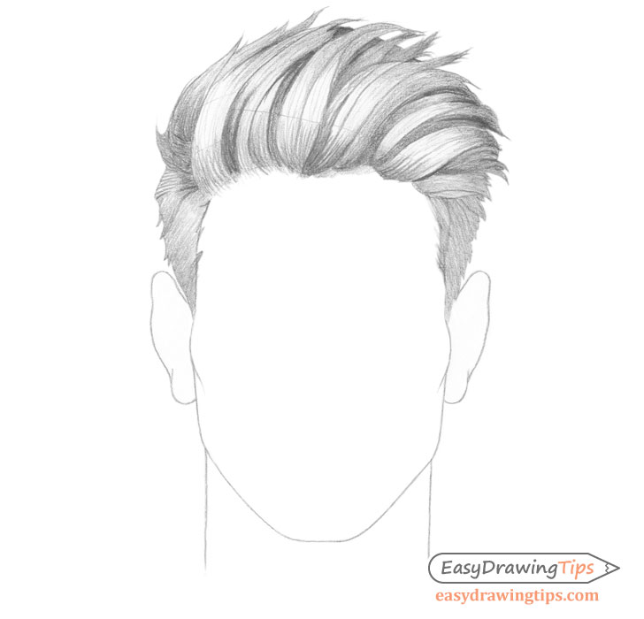 Spiky male hair shading