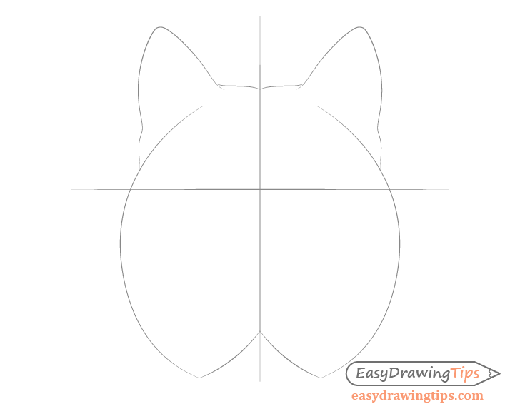 Lynx ears drawing