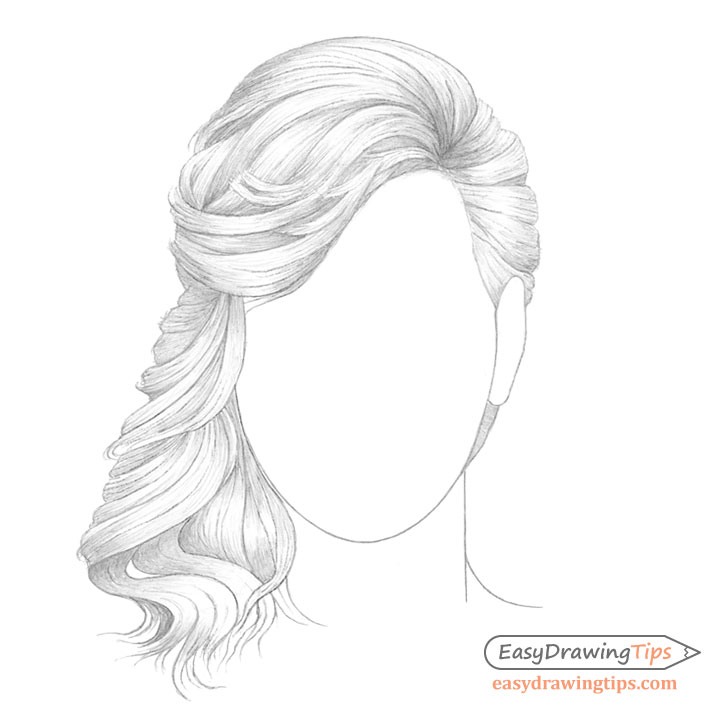 Curly hair basic shading