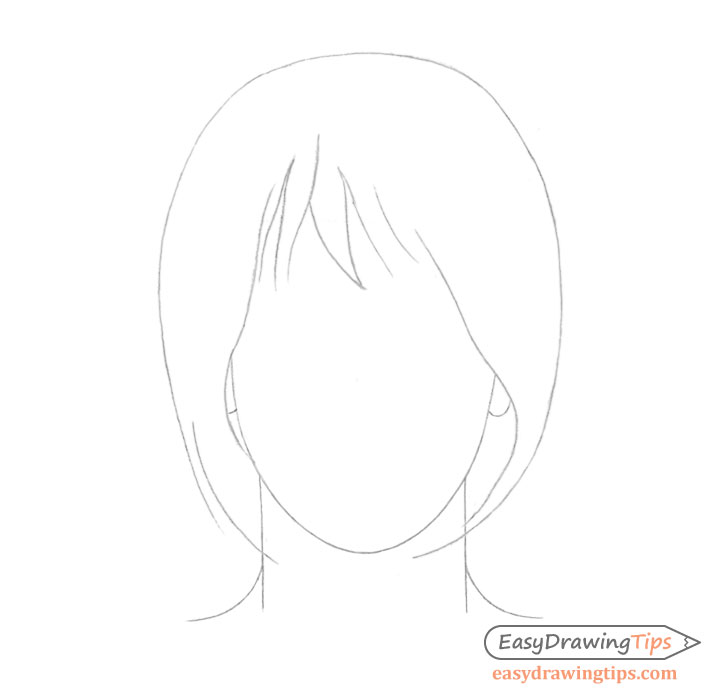 Hair outline drawing