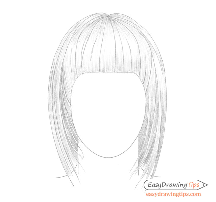 Straight hair basic shading