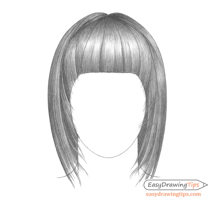 Straight hair drawing