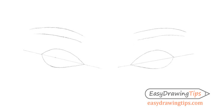 Eyes construction drawing