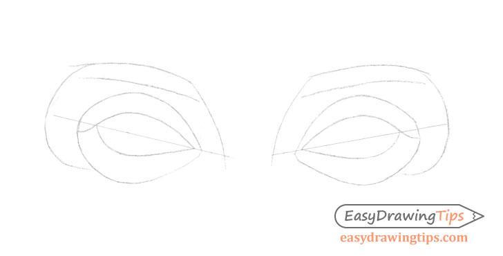 Eyes eyelids drawing