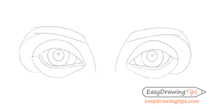 Eyes line drawing