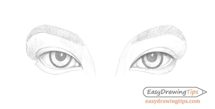 Inner angled eyes basic shading