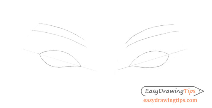 Inner angled eyes construction drawing