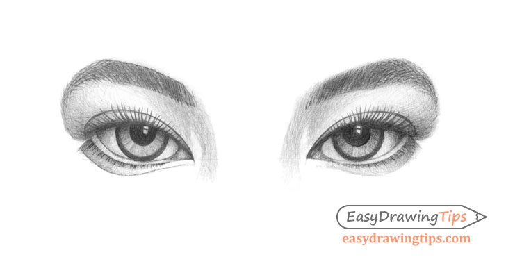 Inner angled eyes drawing
