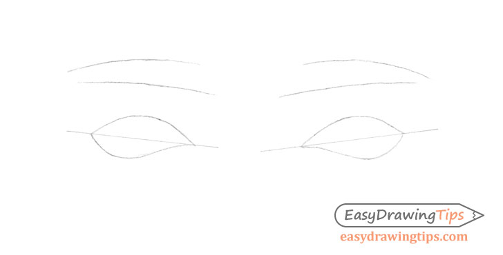 Outer angled eyes construction drawing