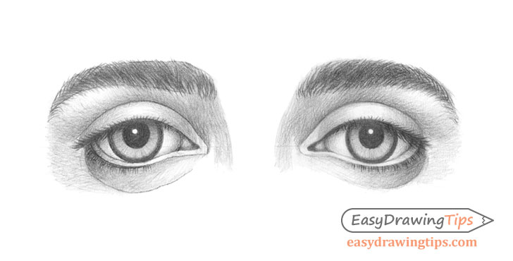 Outer angled eyes drawing