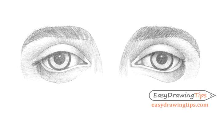 Outer angled eyes shading