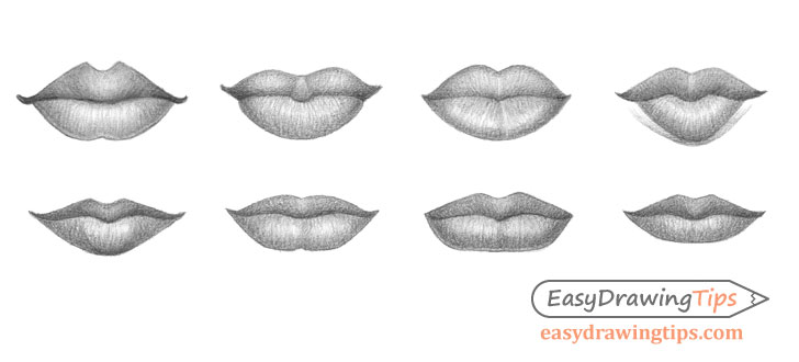 Lips drawing different types