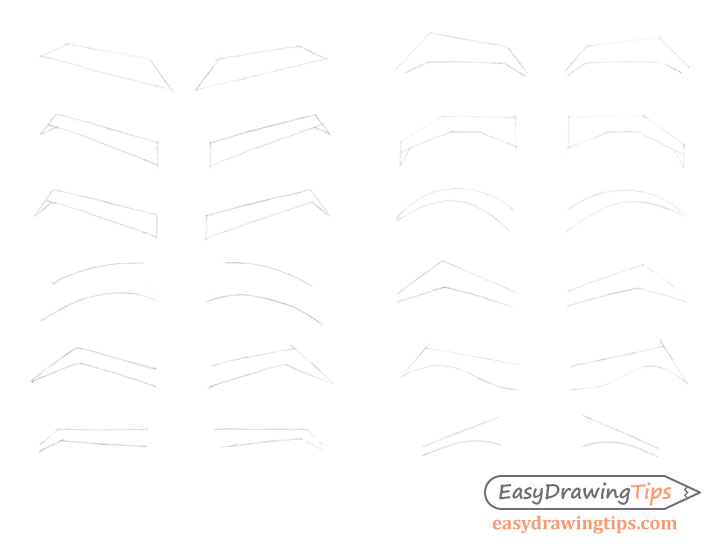 Eyebrows construction drawing