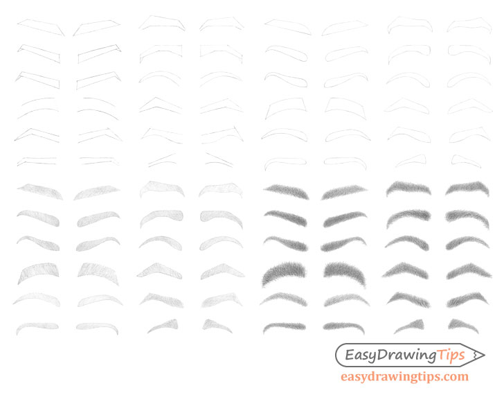 Eyebrows drawing step by step
