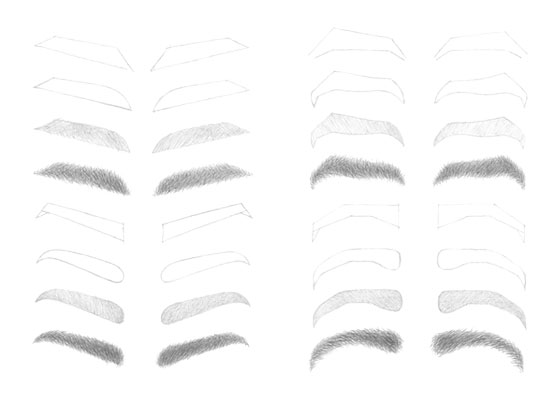 Eyebrows drawing tutorial