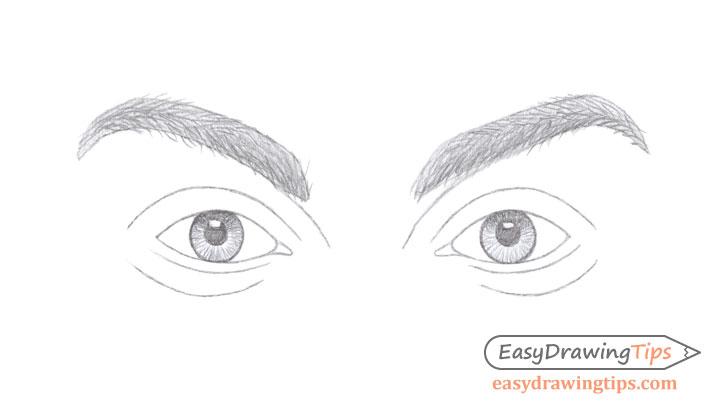 Eyebrows hairs drawing