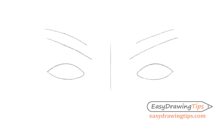 Eyes eyebrows construction drawing