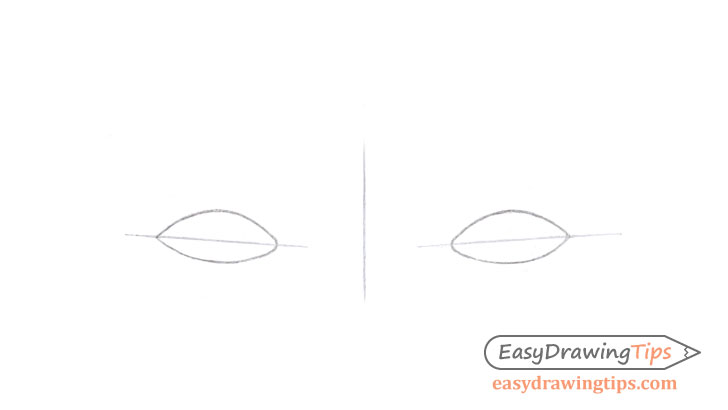 Eyes outline drawing