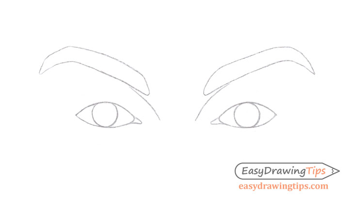 Eyes tear ducts drawing