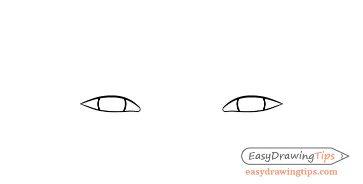 Focused eyes irises drawing