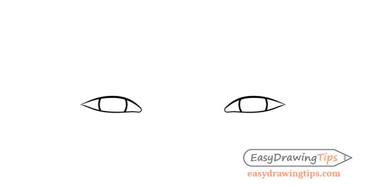 Happy eyes irises drawing
