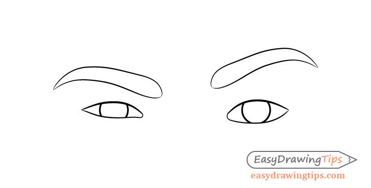 One eyebrow raised eyes eyebrows drawing
