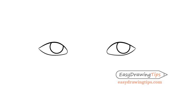 Thinking eyes irises drawing