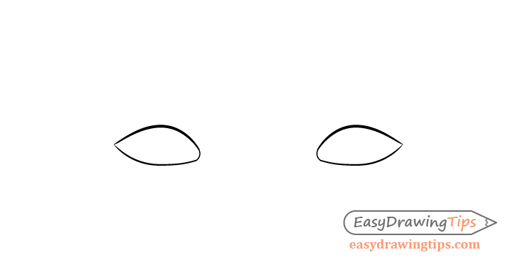 Thinking eyes outline drawing