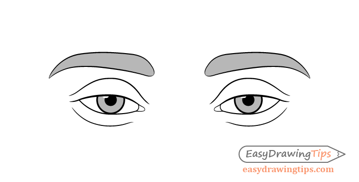 Tired eyes drawing