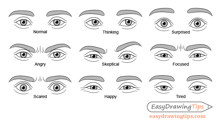 Eye expressions drawing