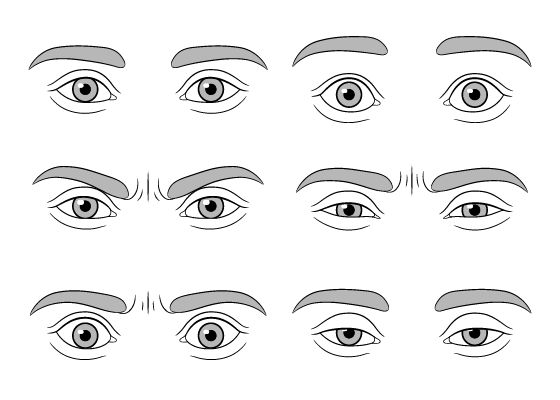 Eye expressions drawing tutorial