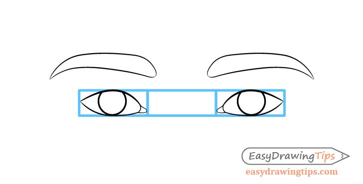 Eye spacing when drawing