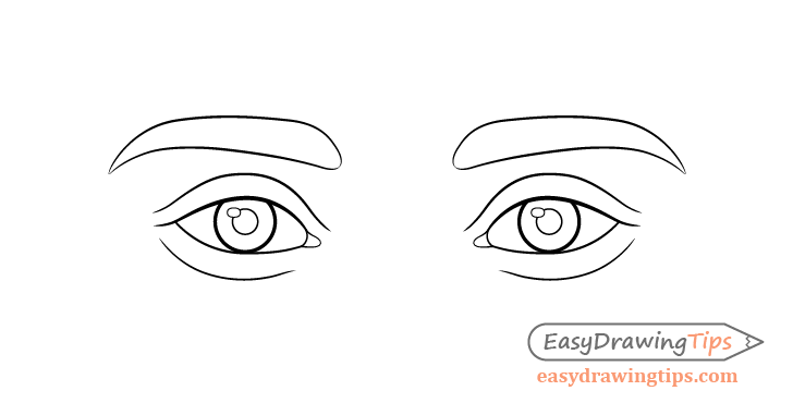 Eyes line drawing